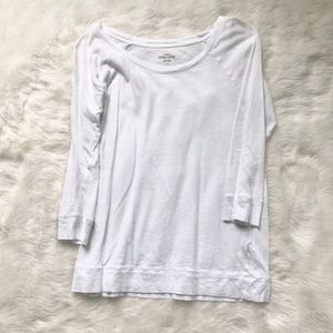 J. Crew white vintage cotton top